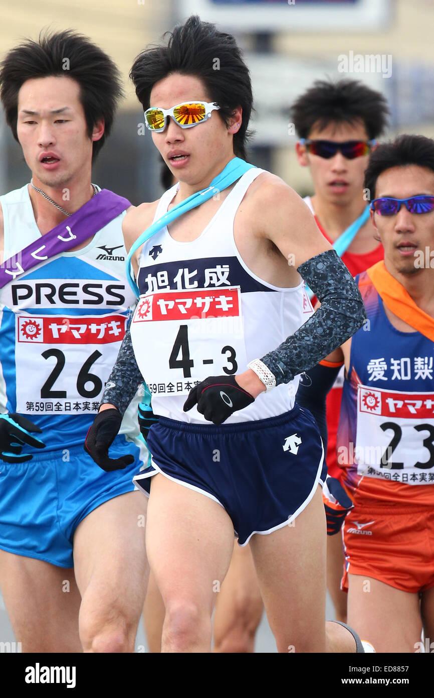 Gunma, Japan. 1st Jan, 2015. Tetsuya Yoroizaka (Asahikasei), JANUARY 1, 2015 - Ekiden : New Year Ekiden 2015 59th - Stock Image