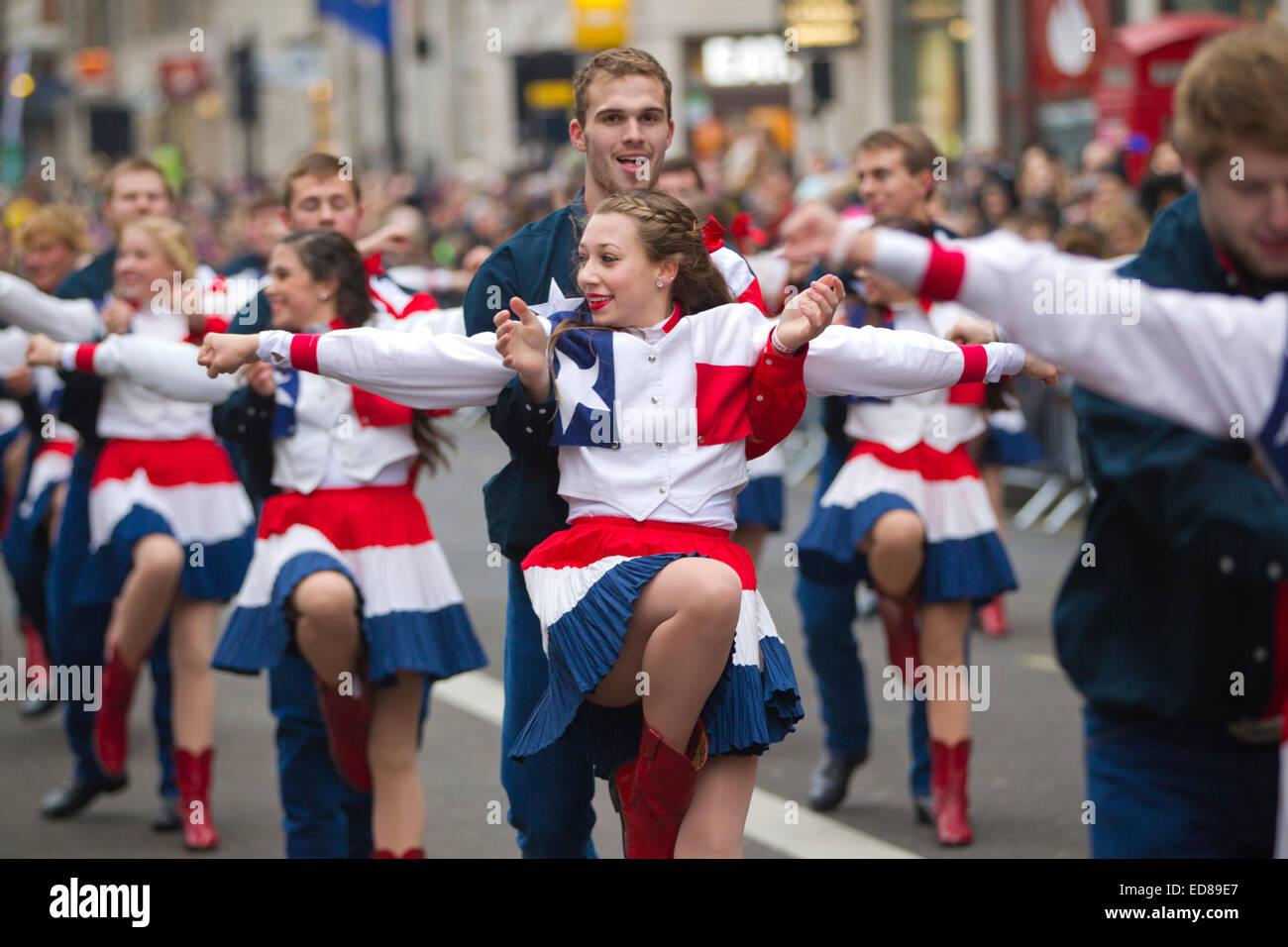 London, UK. 1st January, 2015. London's New Year's Day Parade 2015, London, England, UK Performers from - Stock Image