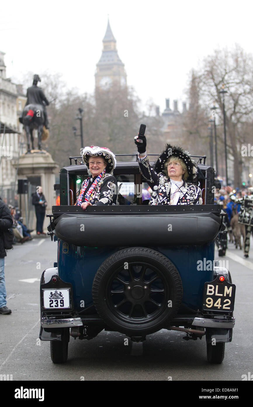 London, UK. 1st January, 2015. London's New Year's Day Parade 2015, London, England, UK London's Pearly - Stock Image