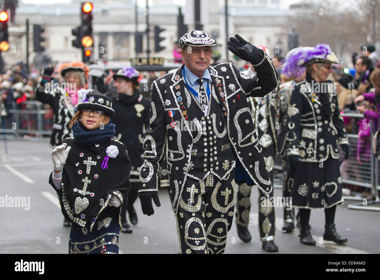 London, UK. 1st January, 2015. London's New Year's Day Parade 2015, London, England, UK London's Pearly - Stock Image