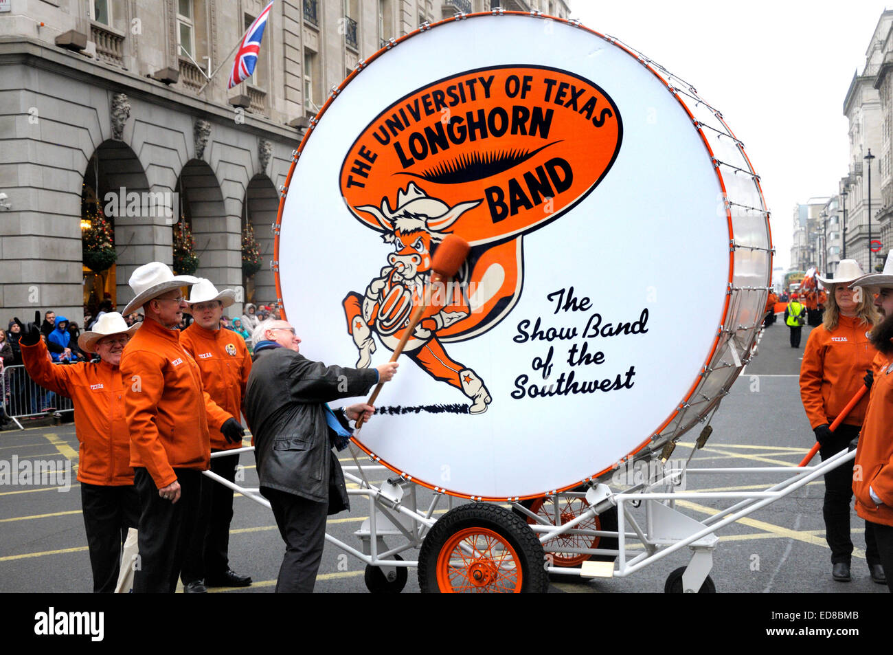 London, UK. 1st January, 2015. New Year's day Parade from Piccadilly to Parliament Square. Big Bertha - the - Stock Image