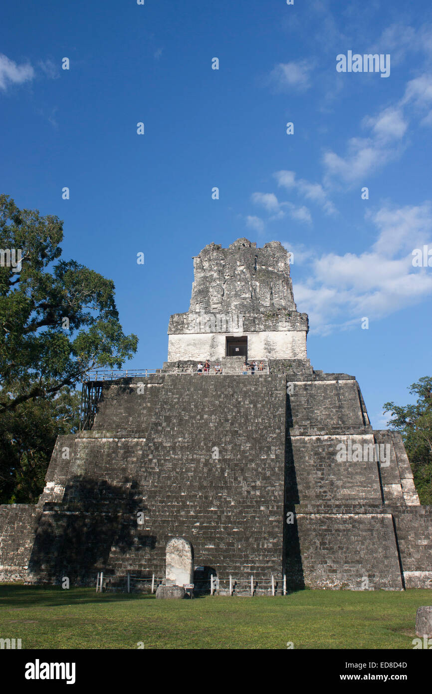 Guatemala, Peten Province, Tikal National Park, Temple II - Stock Image