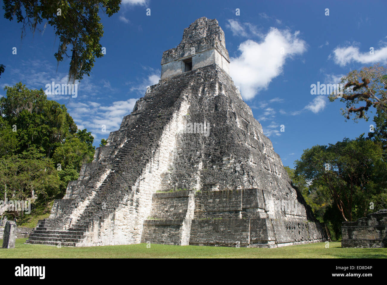 Guatemala, Peten Province, Tikal National Park, Temple I - Stock Image