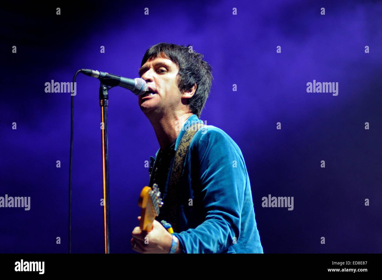 BENICASIM, SPAIN - JULY 19: Johnny Marr band concert performance at FIB (Festival Internacional de Benicassim) 2013 - Stock Image