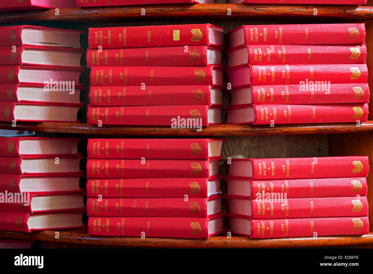 Pile of hymn books in church, England UK Stock Photo: 77019026 - Alamy