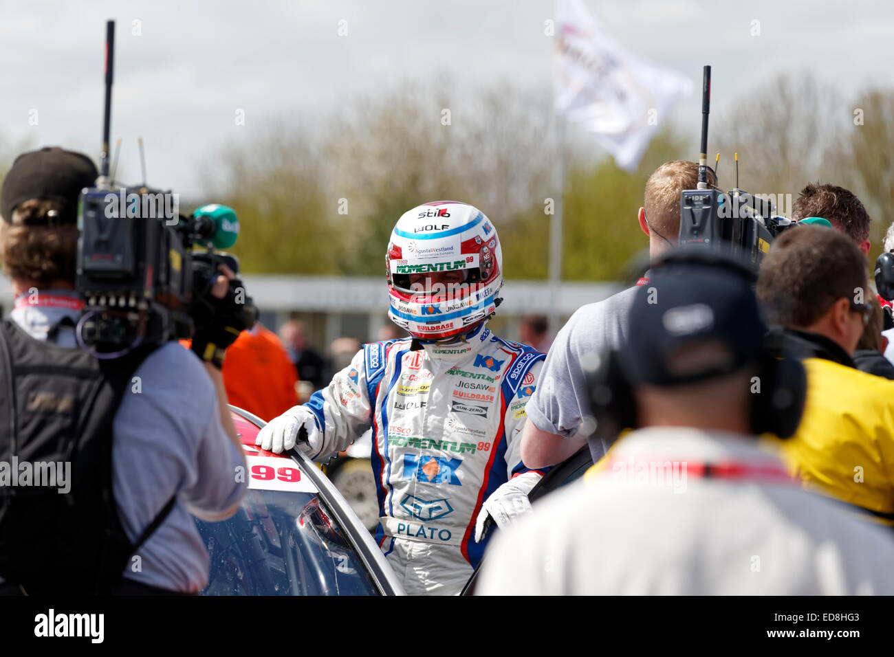 British racing car driver Jason Plato. - Stock Image