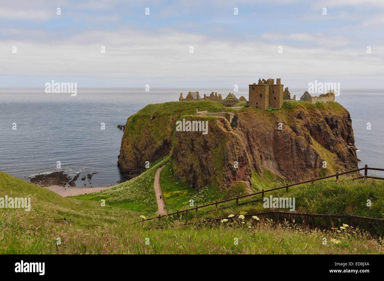 Dunnottar Castle, Stonehaven, Aberdeenshire, Scotland - Stock Image