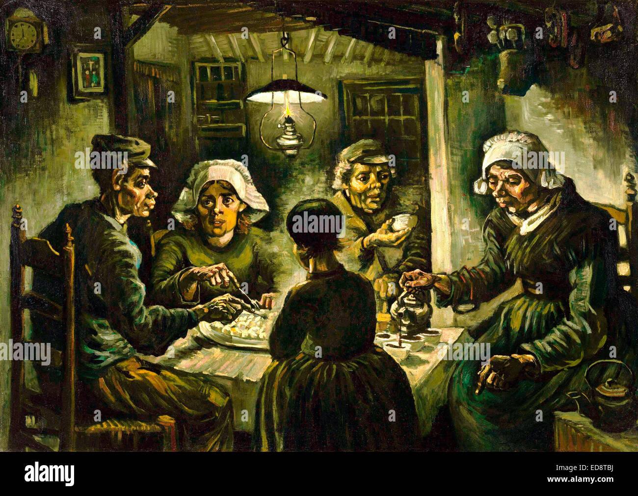 Vincent van gogh the potato eaters 1885 realism oil on canvas stock photo 77026758 alamy - Van gogh comedores de patatas ...