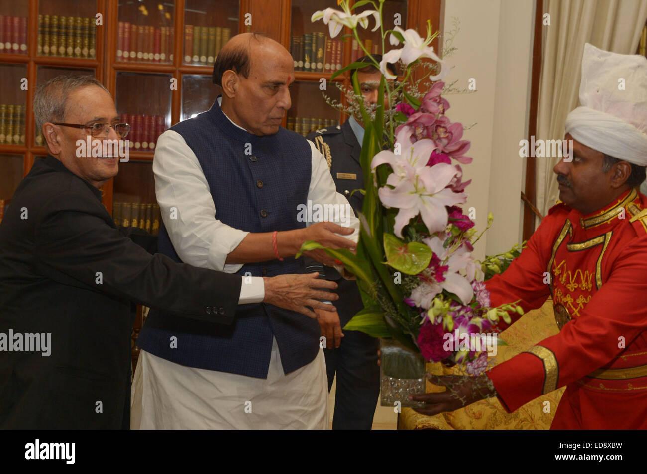 Shri Rajnath Singh Union Minister Of Home Greeting The President