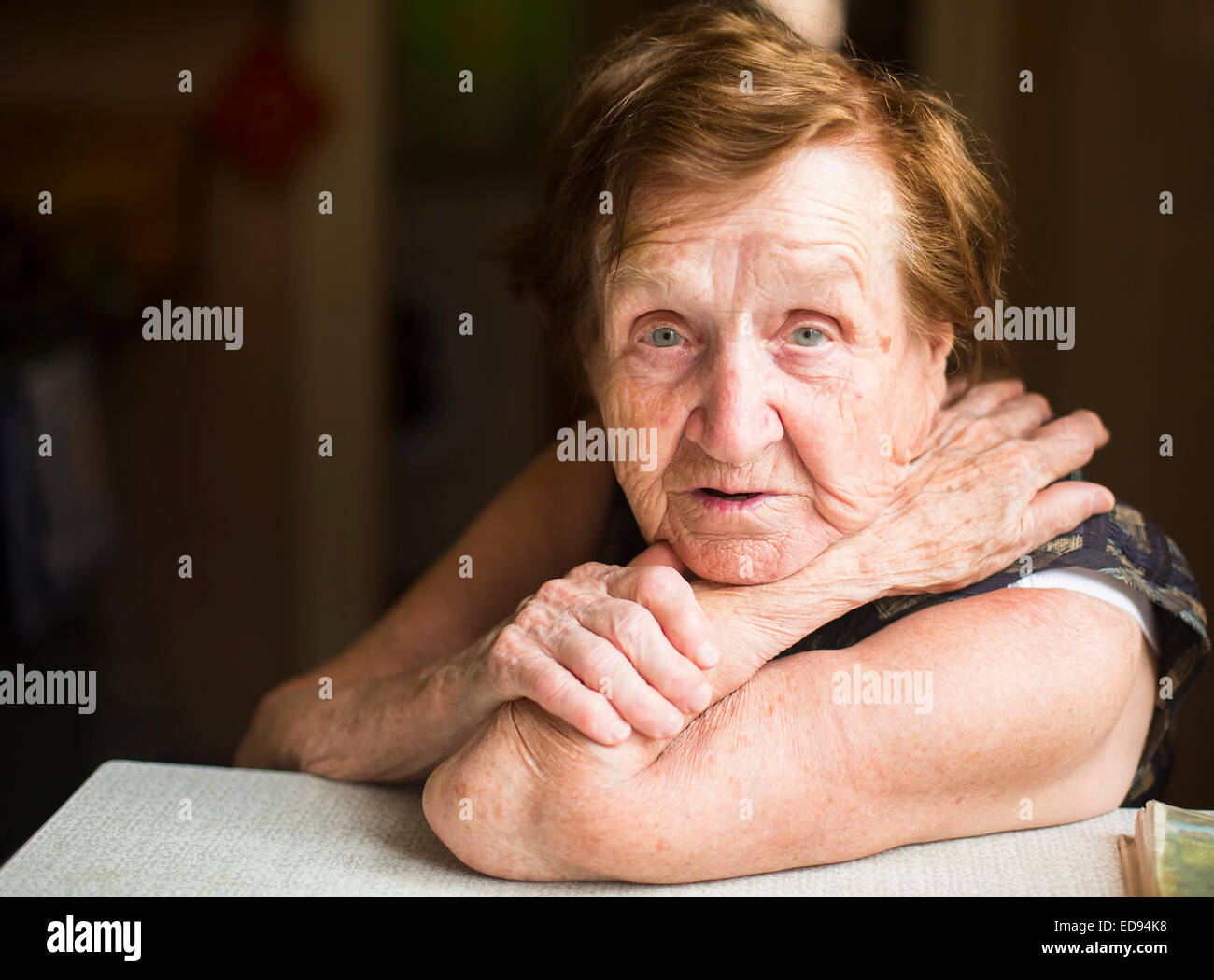 Image of: Crying Poor Old Woman In Her Home Looking Into The Camera Stock Image Alamy Russia Poor Old People Stock Photos Russia Poor Old People Stock