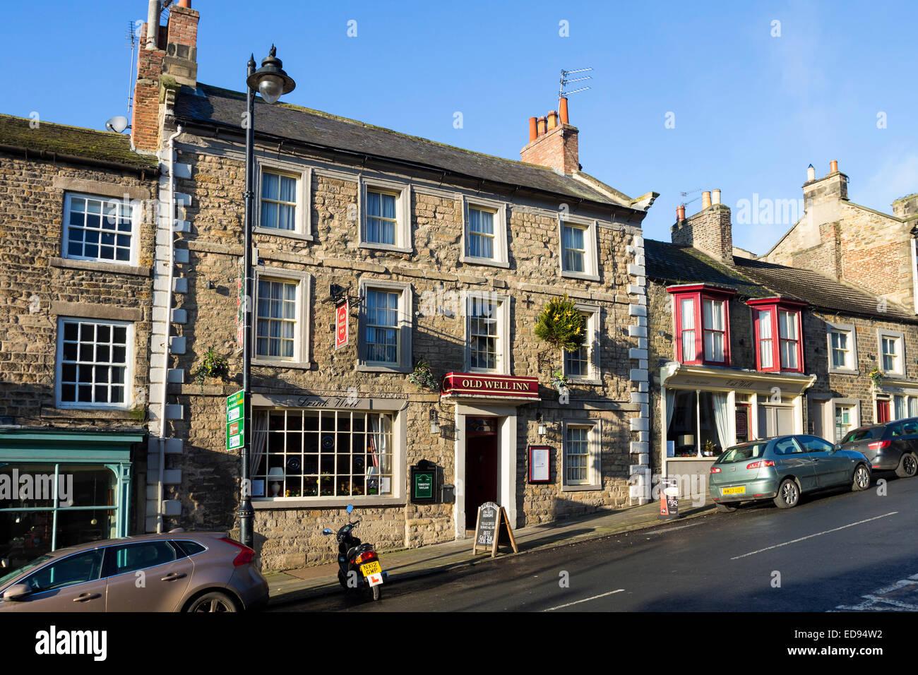 The Old Well Inn on the Bank, Barnard Castle County Durham UK - Stock Image