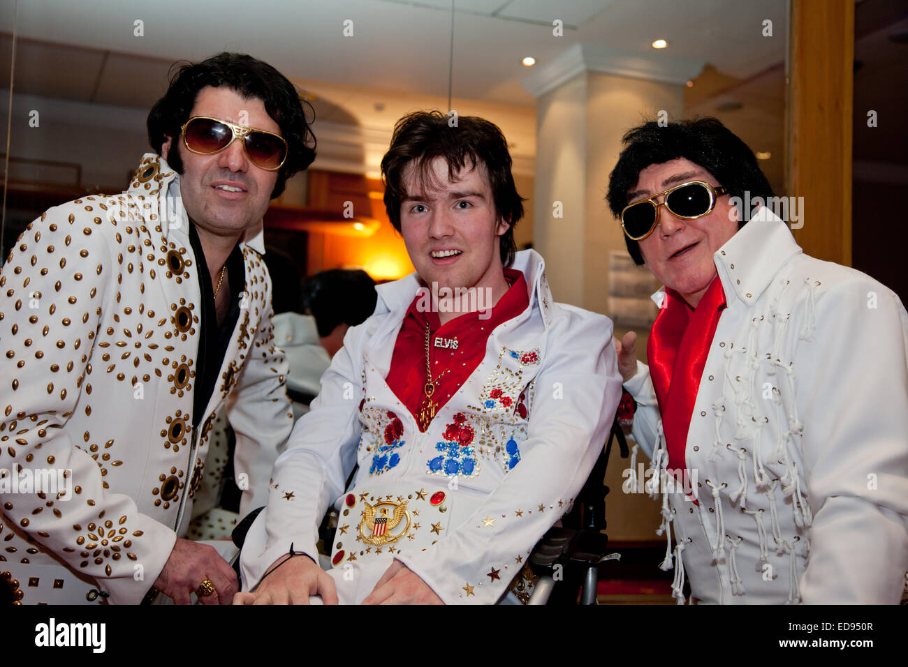 Elvis Presley tribute or impersonation act. 2015 Stock Photo