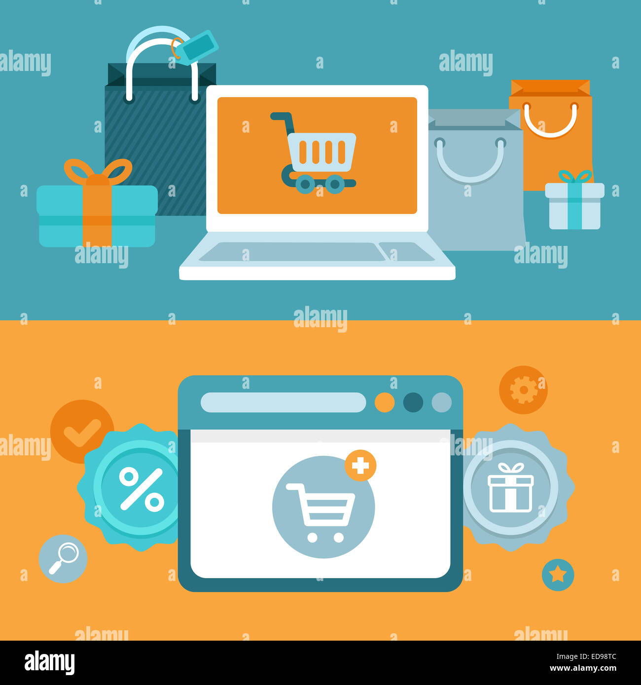 Ecommerce Marketing Banners Realistic Banners