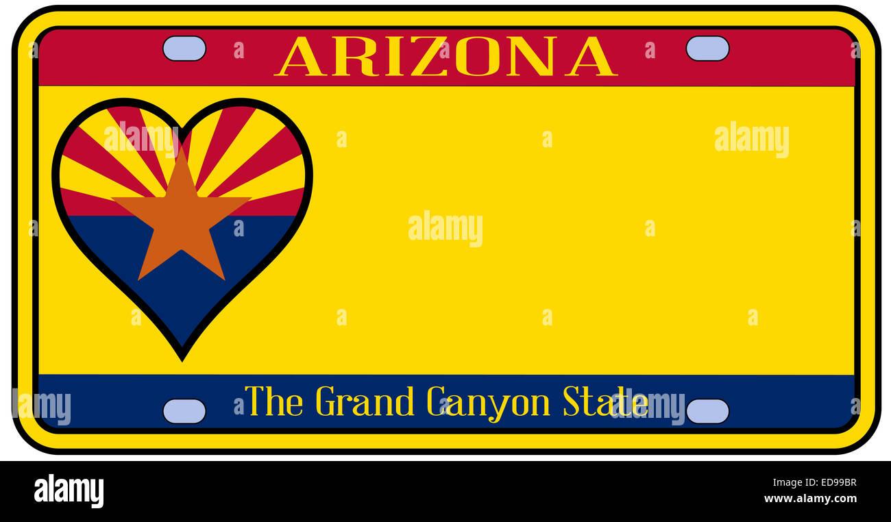 Az Car Registration: Arizona Vehicle Registration Plate Stock Photos & Arizona