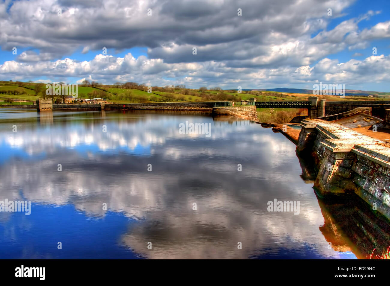 Hury Reservoir in Baldersdale, Upper Teesdale, County Durham - Stock Image