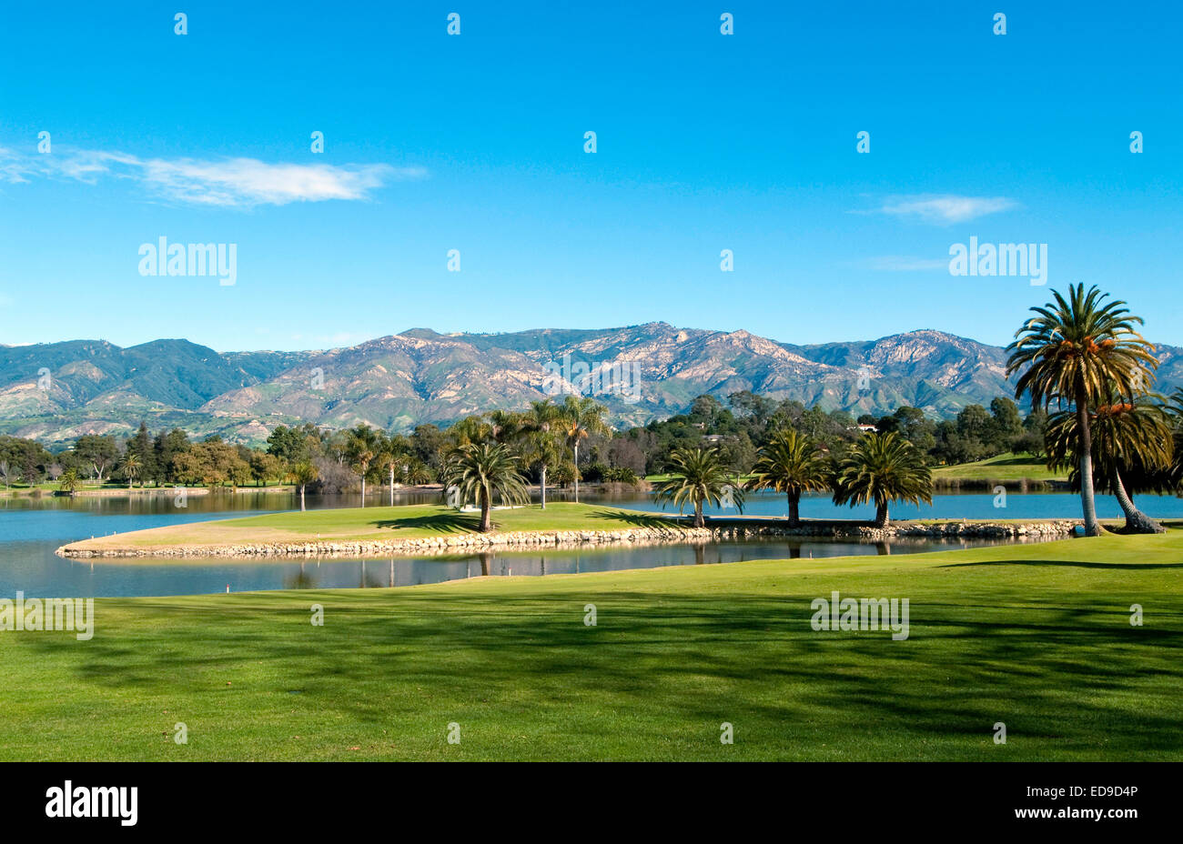 Hope Ranch Golf course, Santa Barbara, California - Stock Image