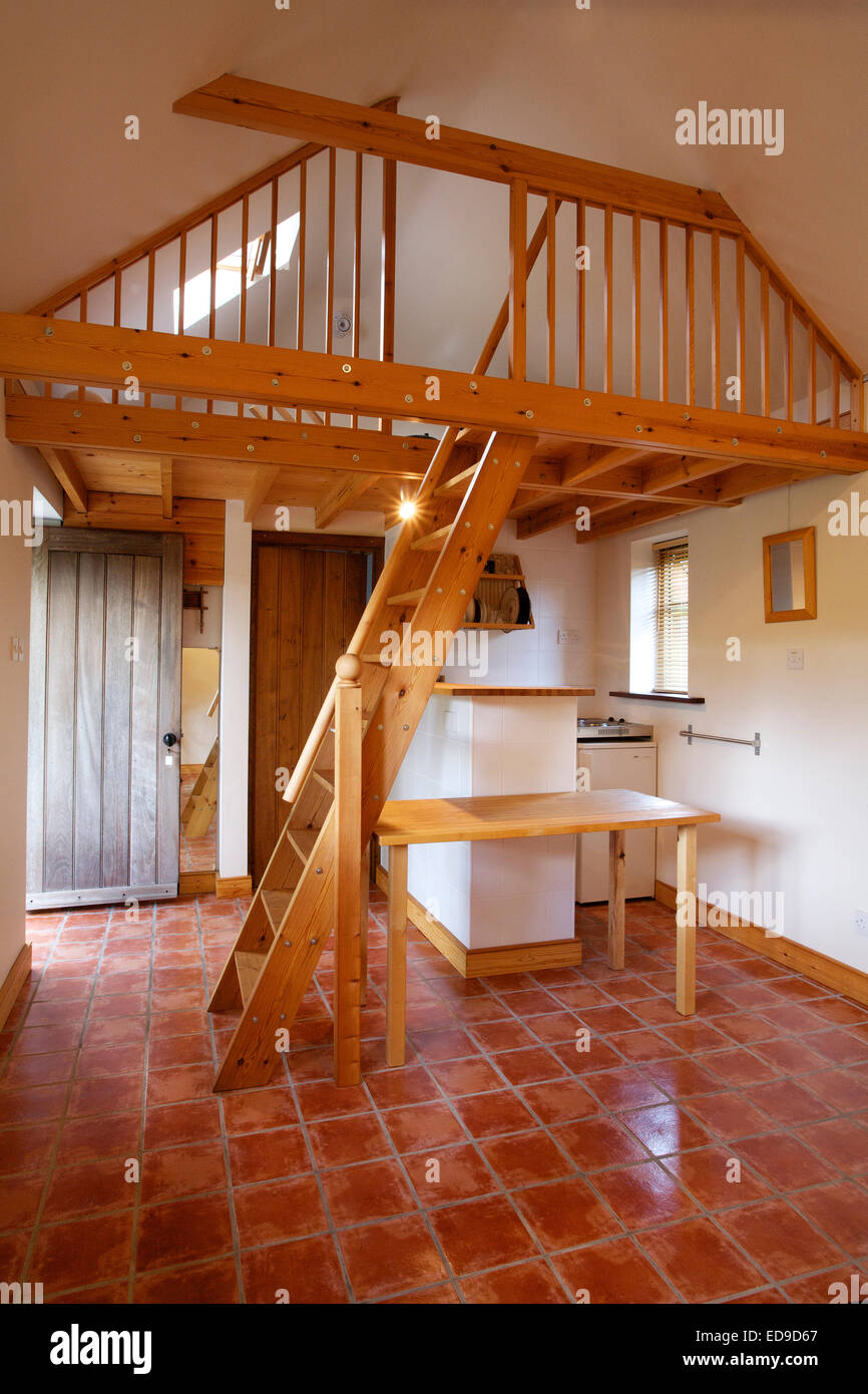 Small Barn Style Guest House With Mezzanine Bed Space Above Small