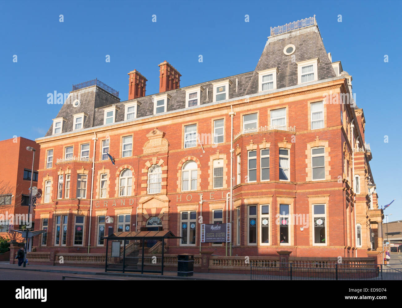 The Best Western Grand Hotel, built 1899, Hartlepool, north east England, UK - Stock Image