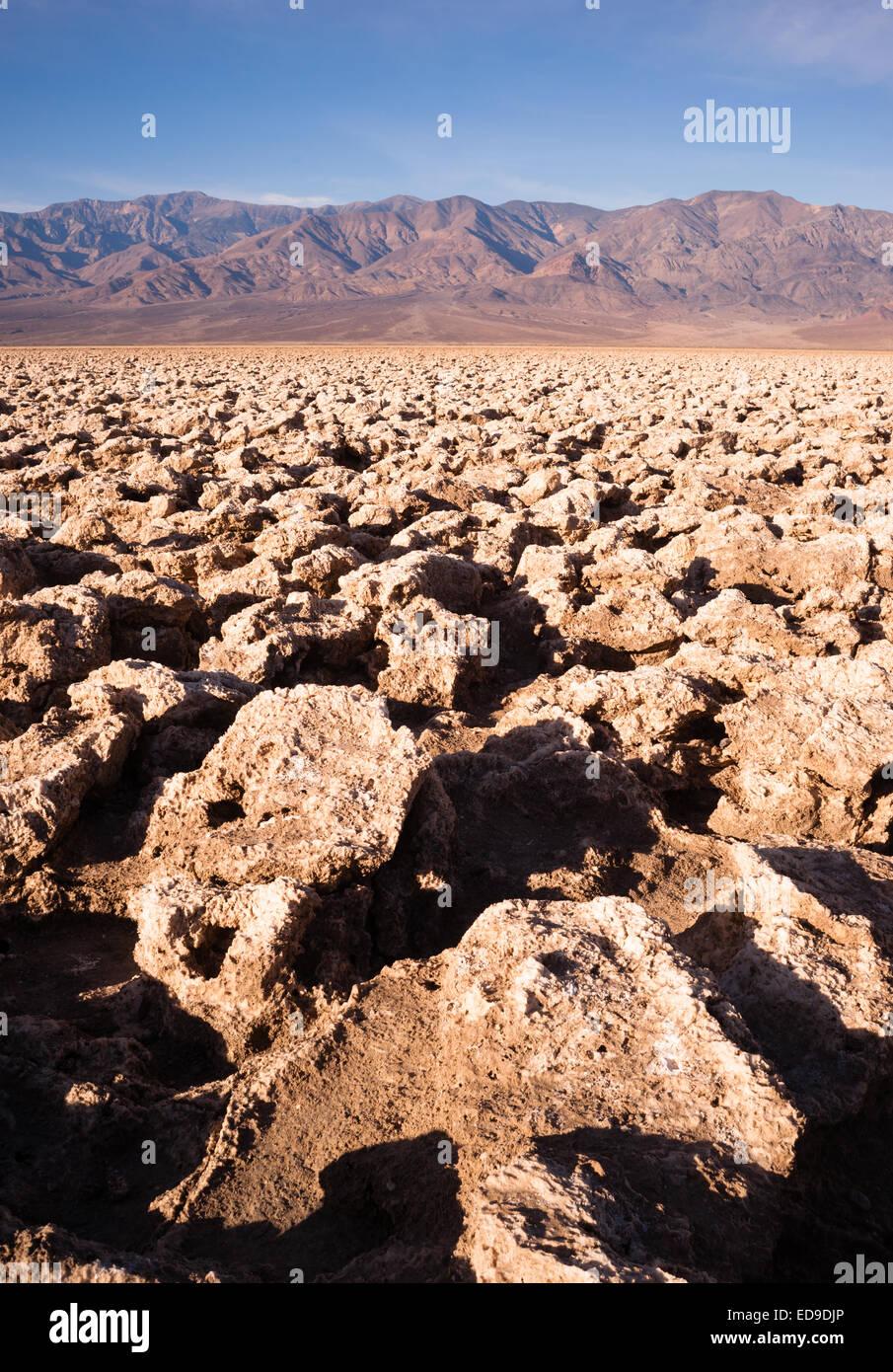 Walking through these basalt formations can be hazardous often resulting in broken bones - Stock Image