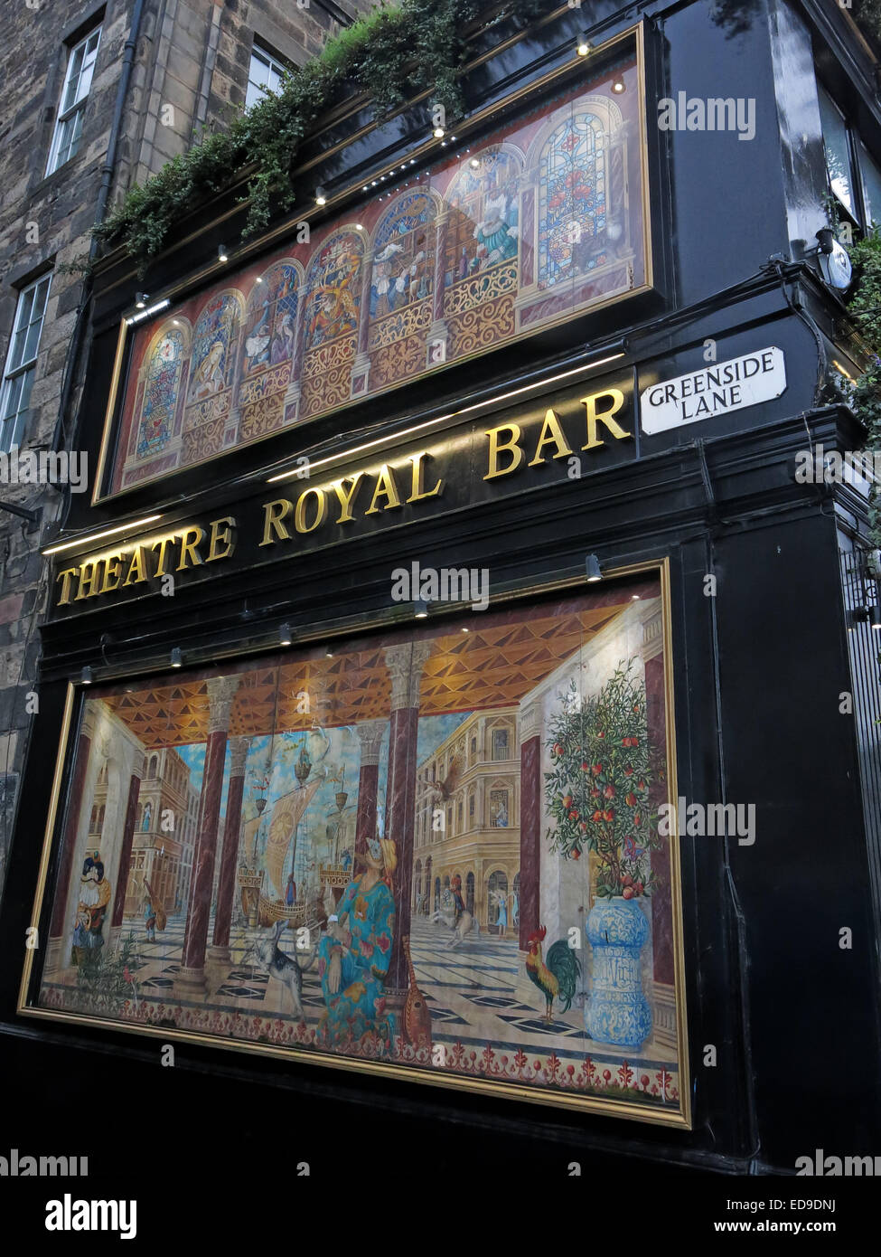 Theatre Royal Bar, Greenside lane, Edinburgh, Scotland, UK - Stock Image
