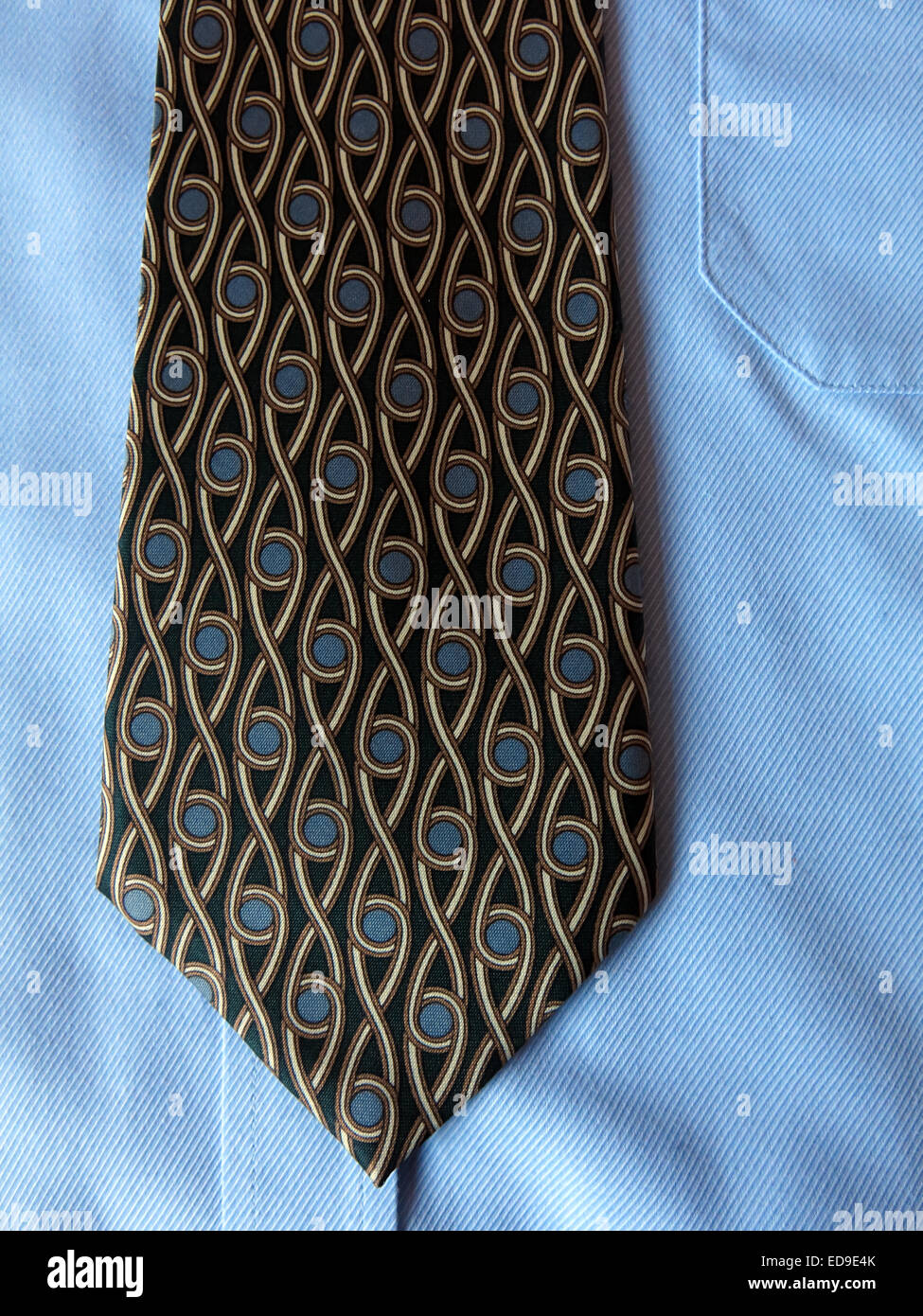 Interesting vintage Isrida tie, male neckware in silk - Stock Image