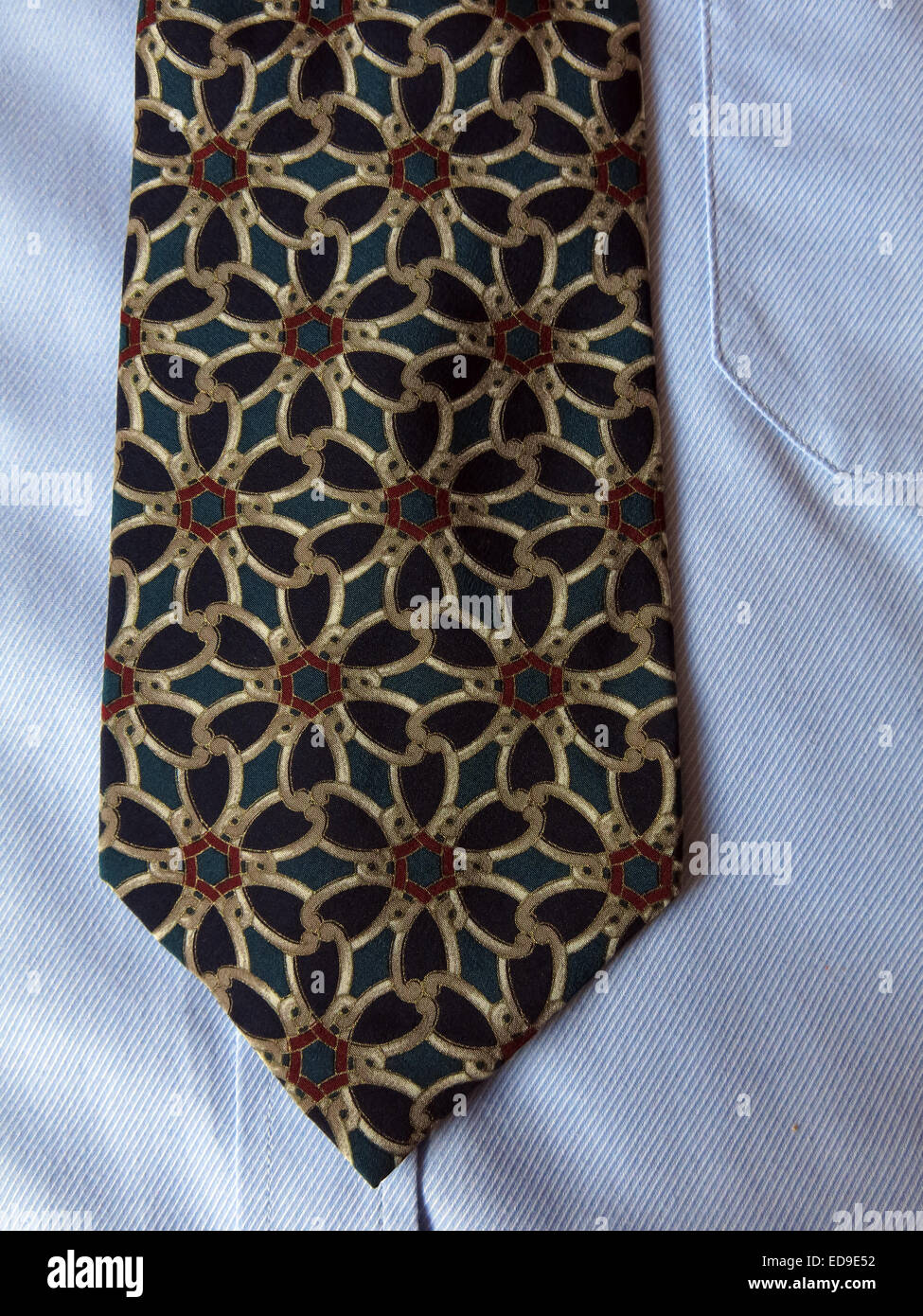 Interesting vintage Tie rack Charleston tie, male neckware in silk - Stock Image