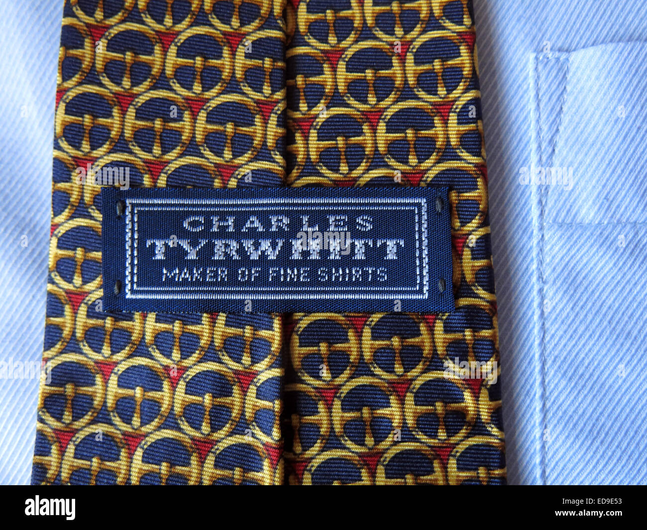 Interesting vintage Charles Tyrwhitt maker of fine shirts tie, male neckware in silk - Stock Image