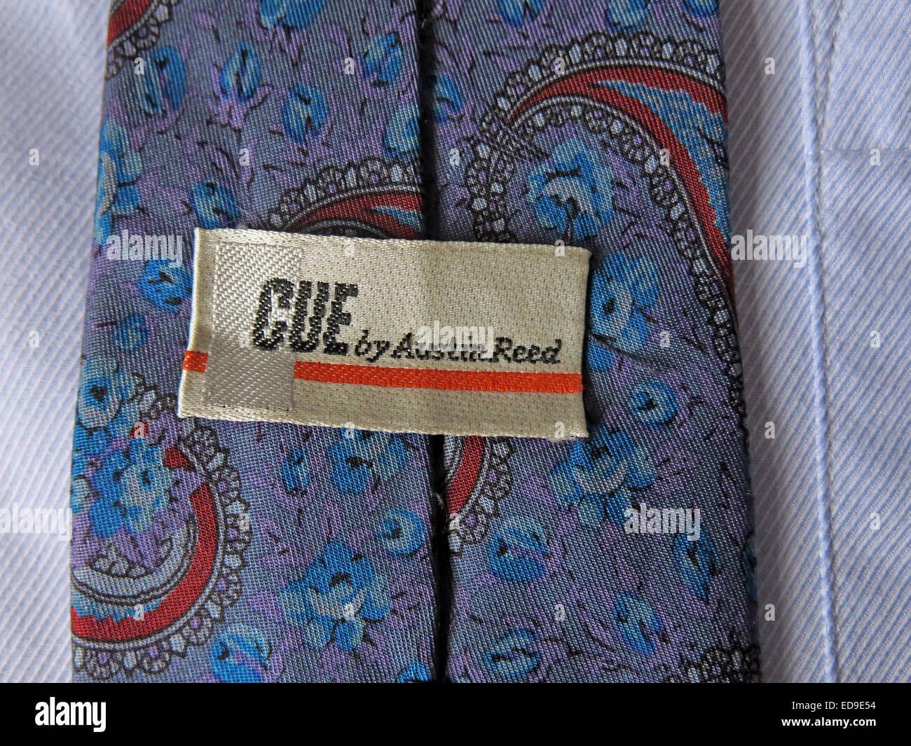Interesting vintage Austin Reed 1970s Cue tie, male neckware in silk - Stock Image