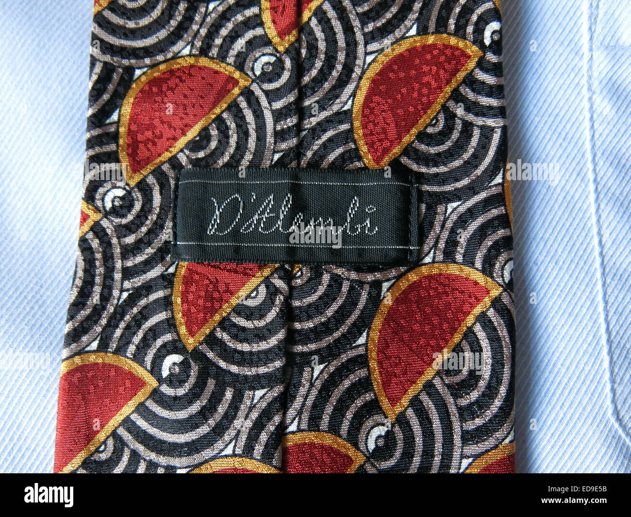 Interesting vintage Dalembi tie, male neckware in silk - Stock Image