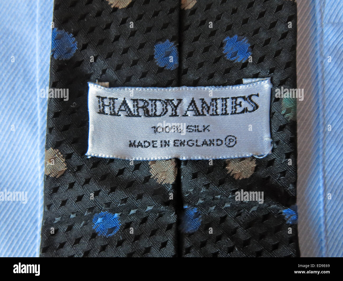 Interesting vintage 1980s Hardy Amies tie, male neckware in silk - Stock Image