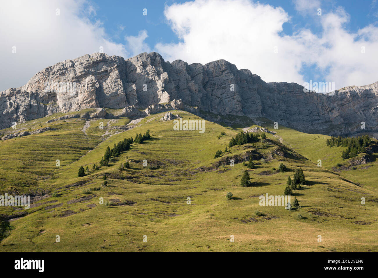 ARAVIS range mountains in French PreAlps. . - Stock Image