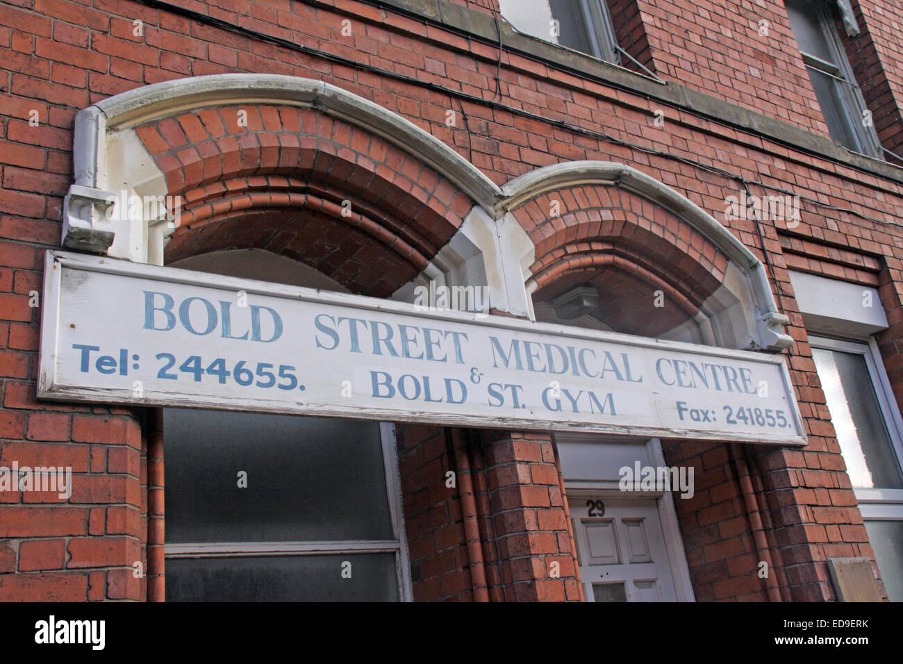 Medical Centre, Bold St, Warrington, Cheshire, England, UK - Stock Image