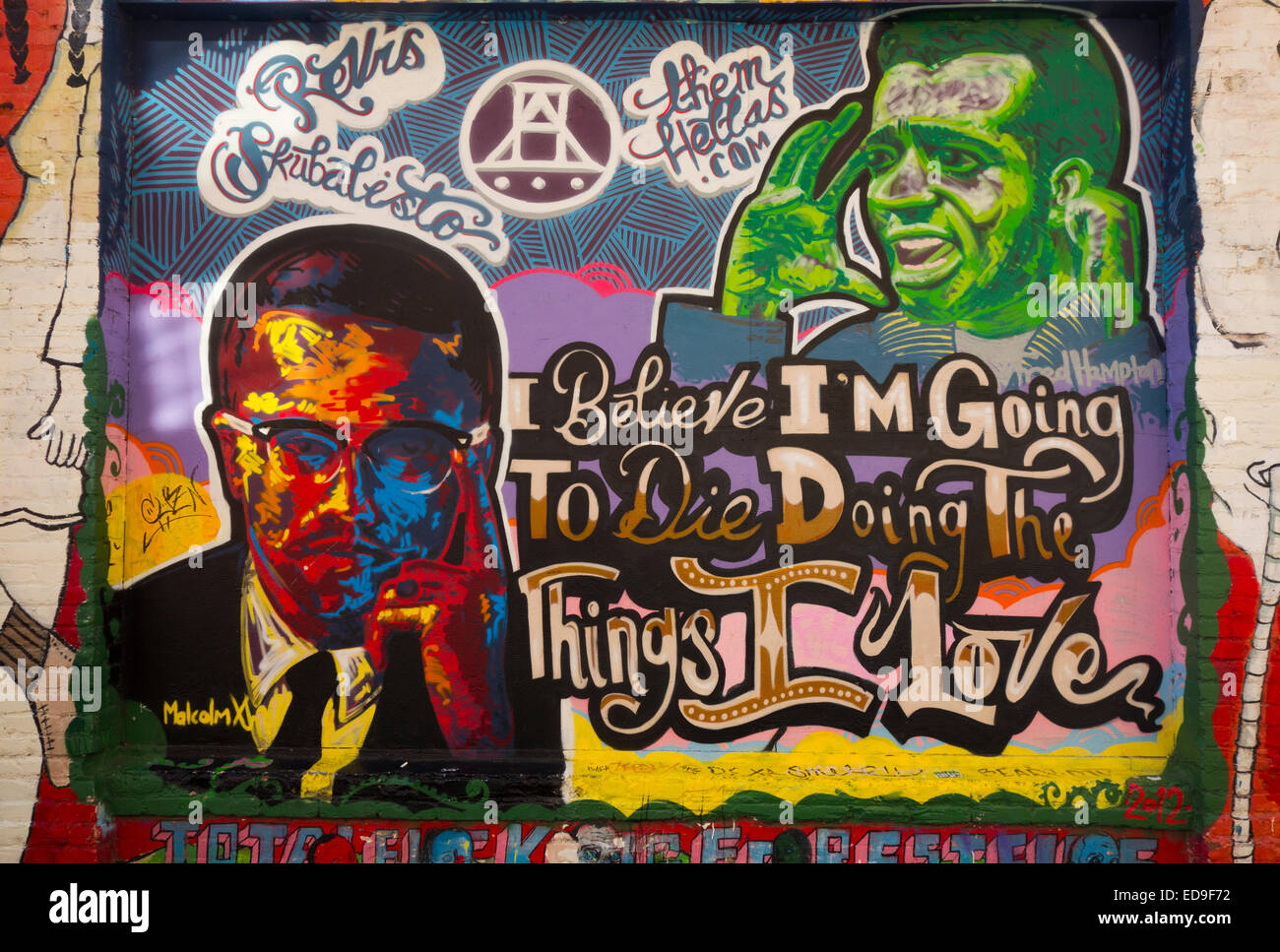 murals in the mission district of San Francisco CA Stock Photo