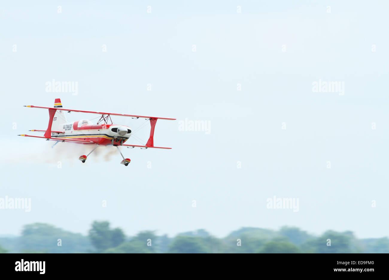 Ultimate 10-300 model radio control airplane. Bi Plane. Barnstorming Carnival, Springfield Beckley Airport., Springfield, - Stock Image