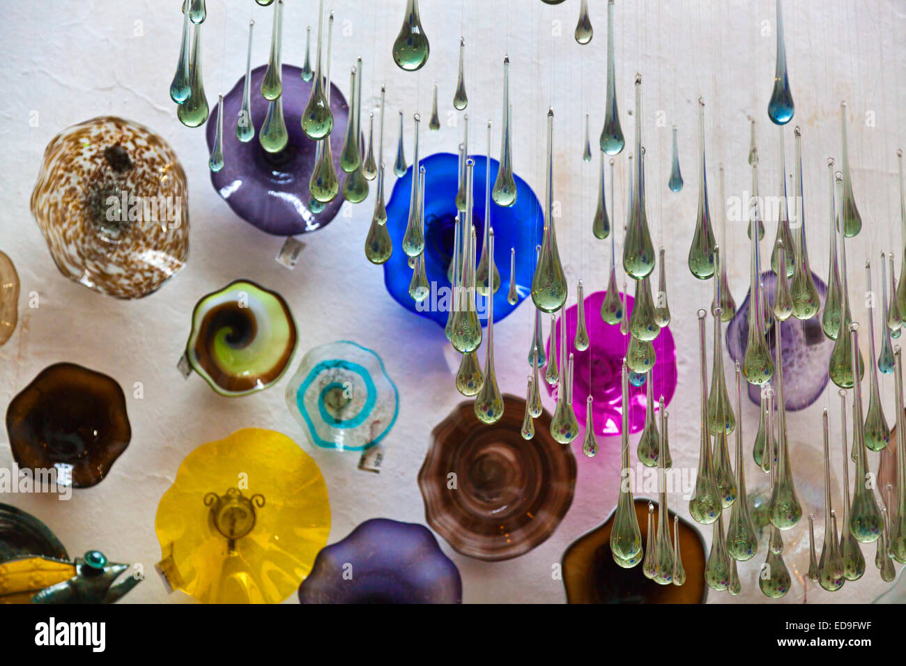 Picture of: Hand Blown Glass Ornament In A Shop San Miguel De Allende Mexico Stock Photo Alamy