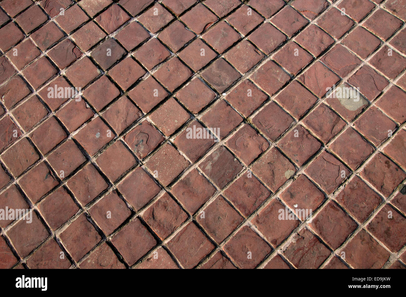 old bricks pavement background and texture - Stock Image