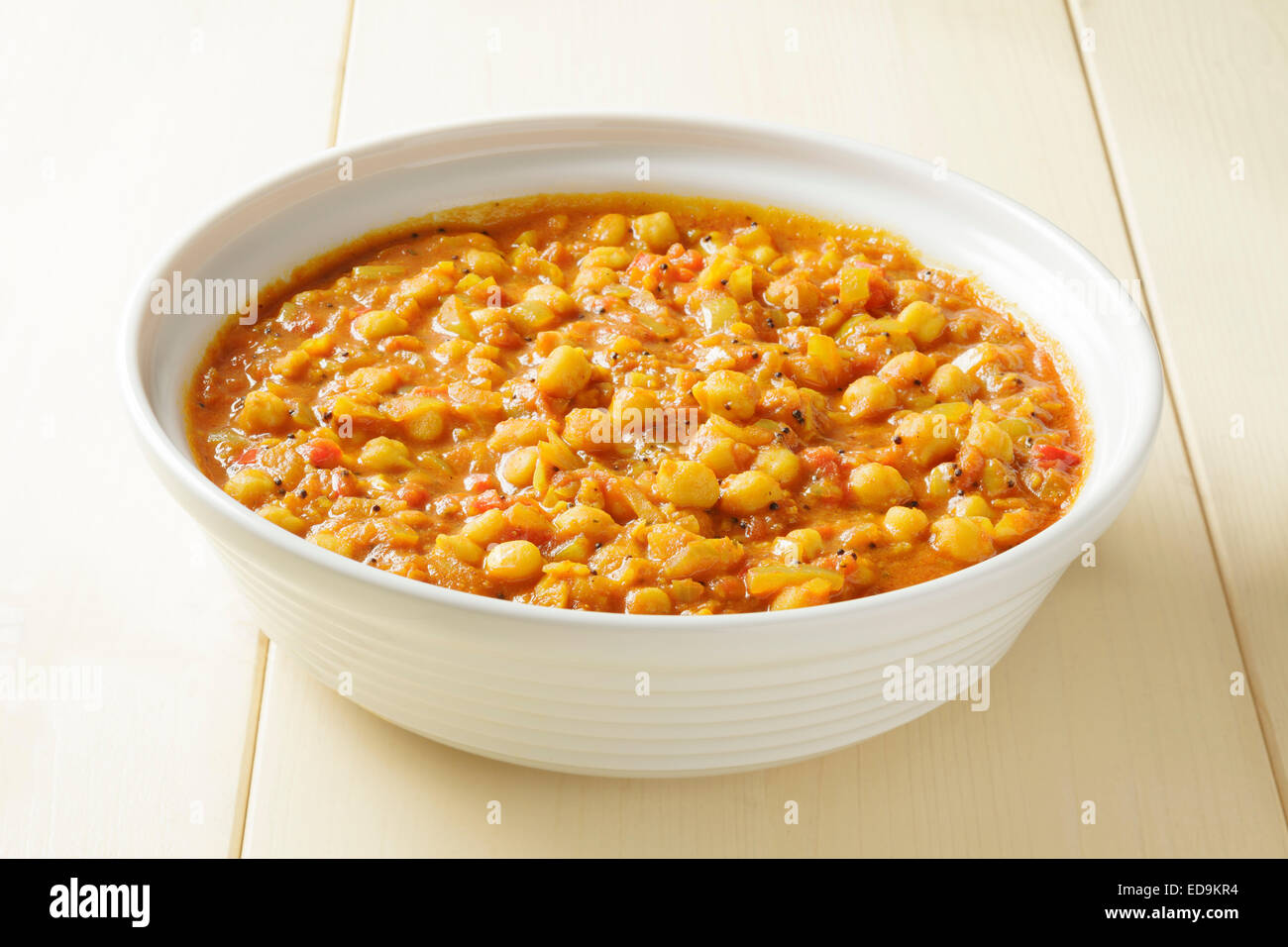 Chick pea curry - Stock Image