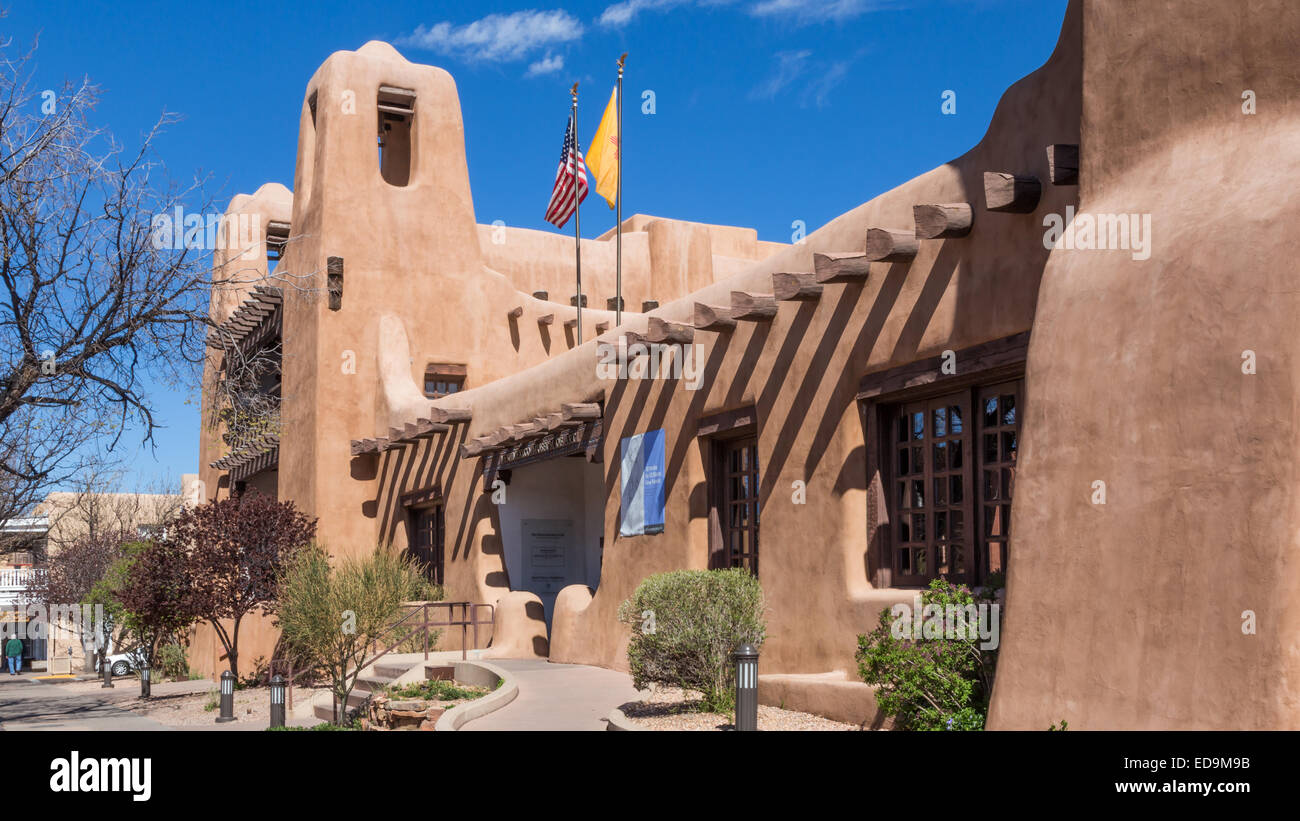 New Mexico Museum of Art, Santa Fe, New Mexico - Stock Image