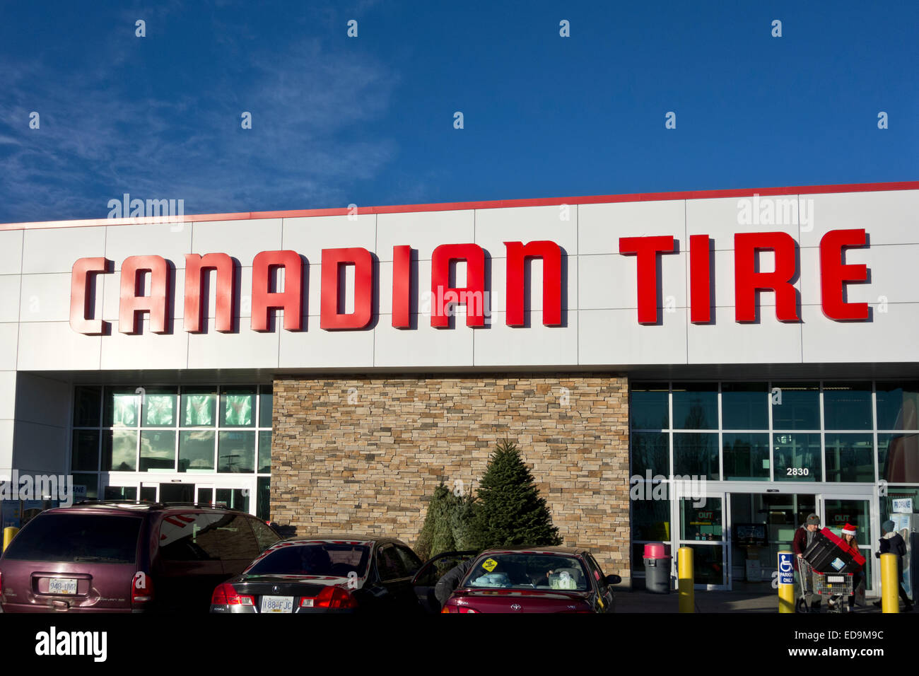 Exterior of a Canadian Tire store in Vancouver, BC, during the holiday season 2014. BHZ - Stock Image