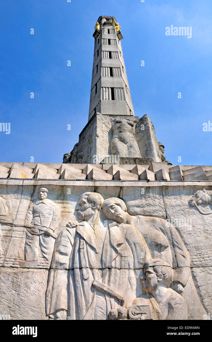 Leuven / Louvain, Belgium. World War One Memorial, outside the station - Stock Image
