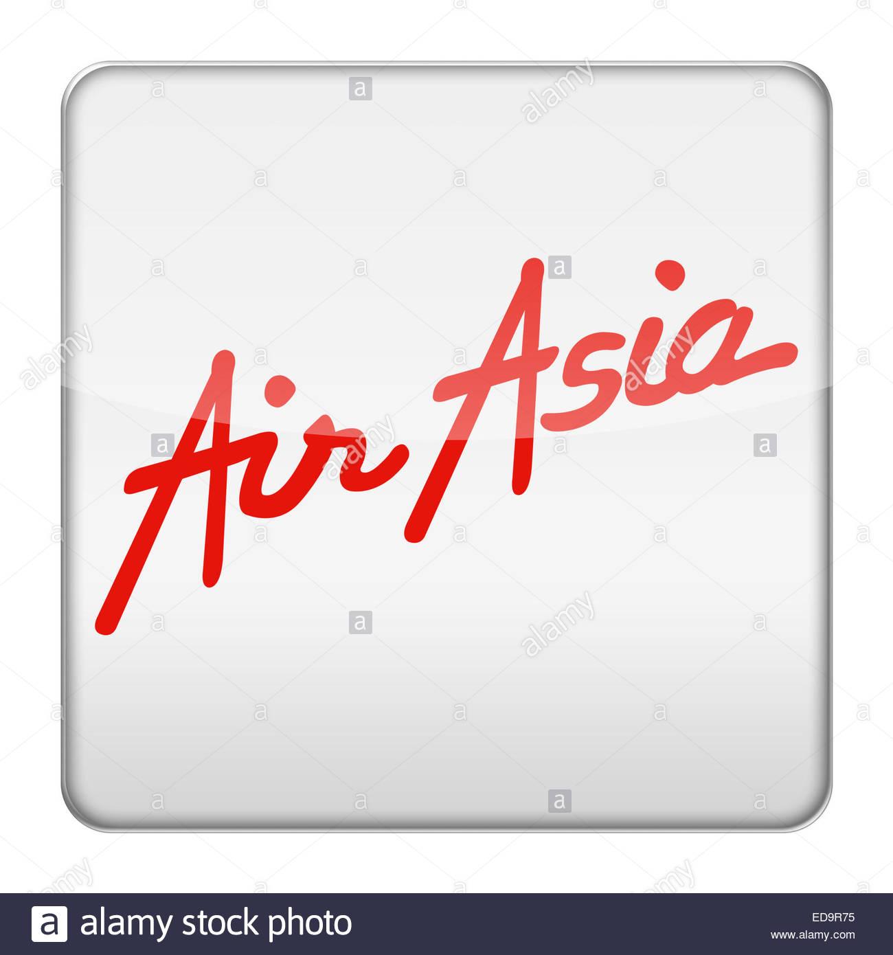 AirAsia Malaysian Airline logo icon - Stock Image