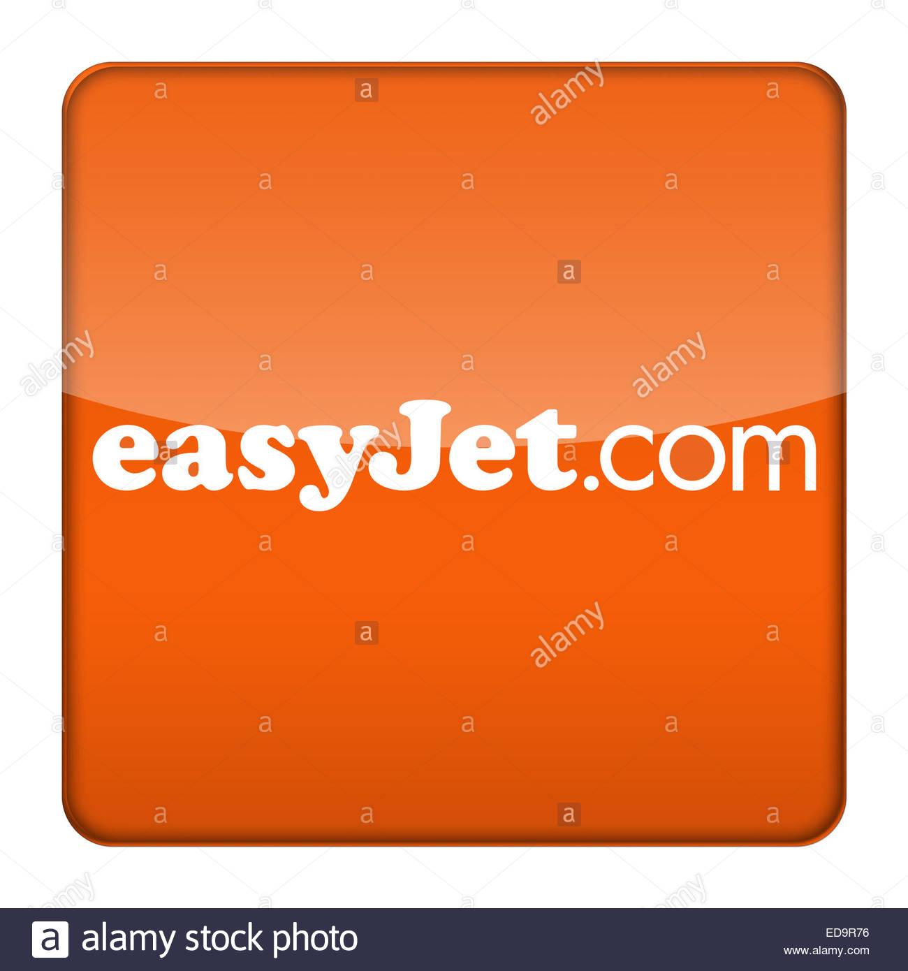 EasyJet British Airline logo icon - Stock Image
