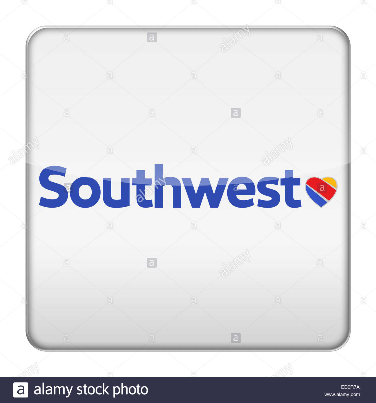 Southwest American Airline logo icon - Stock Image