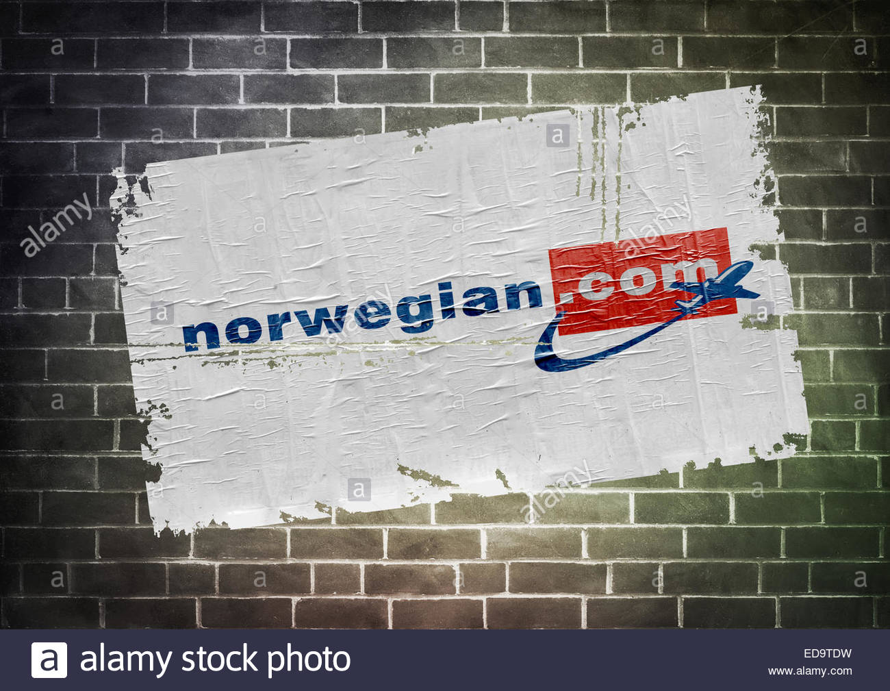 Norwegian Airline Air Shuttle logo icon sign poster - Stock Image