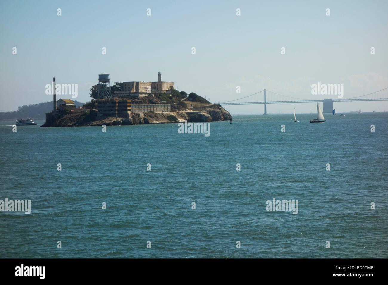 Alcatraz island national park San Francisco CA - Stock Image