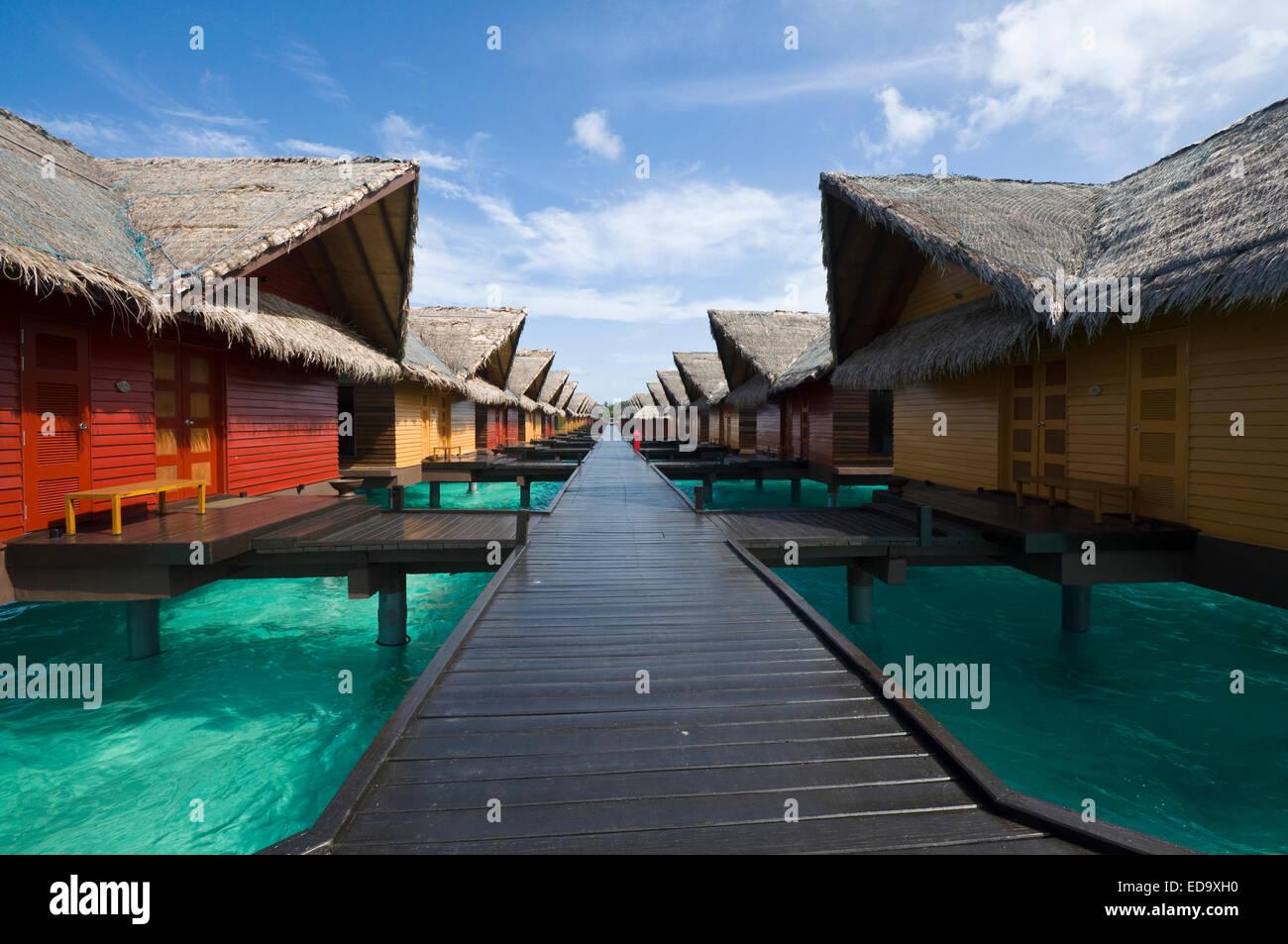 Ocean Villa at Adaaran 'Select' Hudhuran Fushi Resort North Male Atoll - Maledives - Stock Image