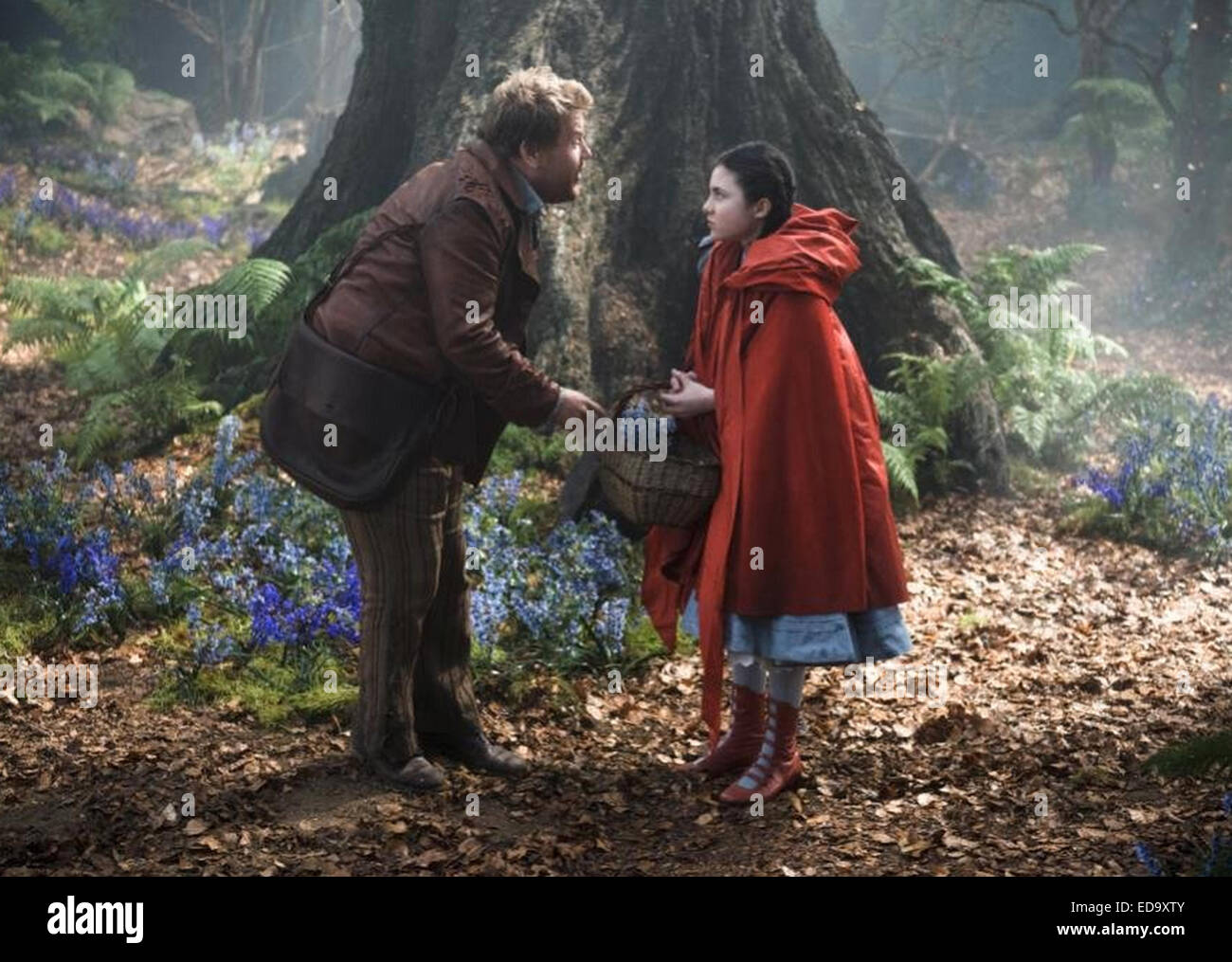 INTO THE WOODS 2014 Walt Disney Pictures film with Lilla Crawford and James Corden - Stock Image