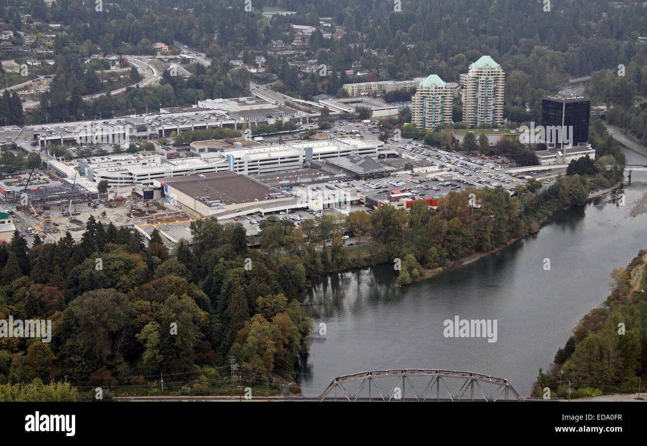 aerial view of the Park Royal Shopping Center on Marine Drive, North Vancouver, Canada - Stock Image