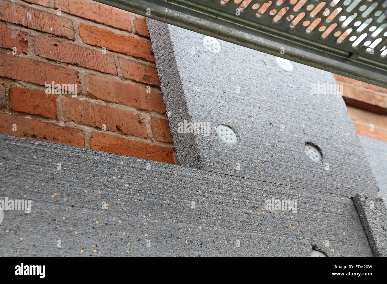 External wall insulation for solid wall houses with no cavity stock photo 77053113 alamy for Insulating exterior walls in old homes