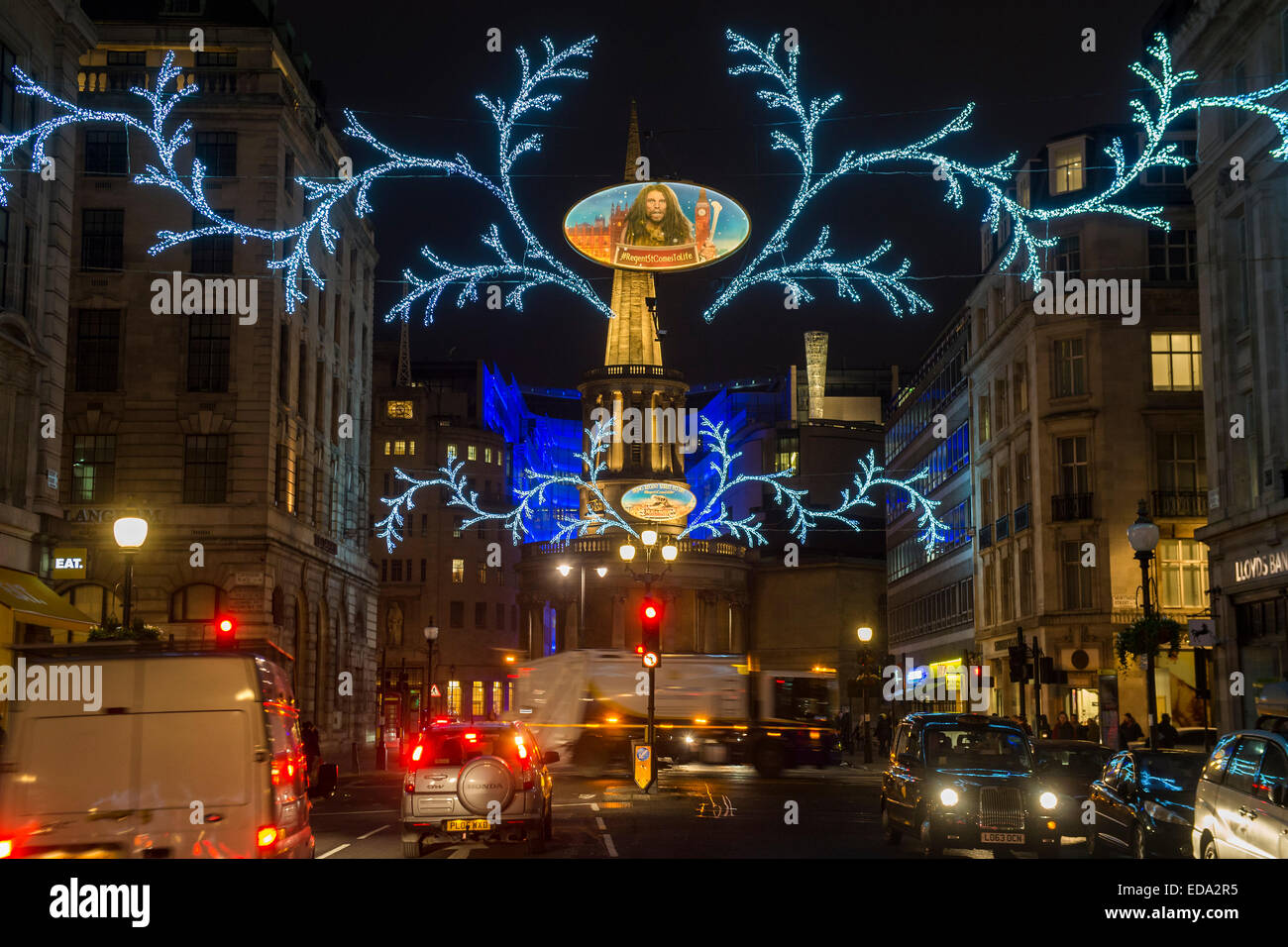 London, UK. 01st Jan, 2015. New year's day on Oxford and Regent Streets -  people have not been sated by Christmas - Stock Image